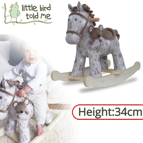 Little Bird Told Me Biscuit & Skip Rocking Horse Toy 9m+   Ride On   With Soft Fabric Thumbnail 1