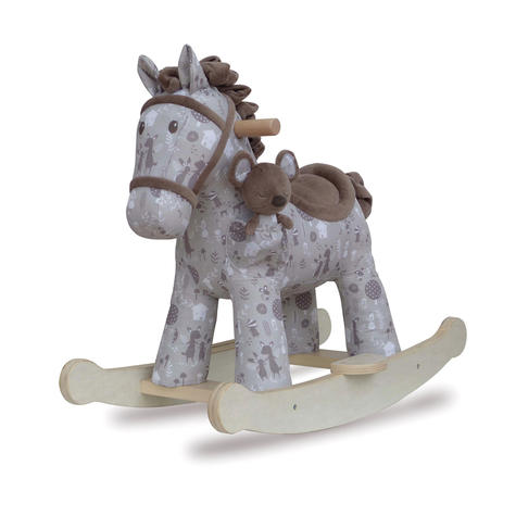 Little Bird Told Me Biscuit & Skip Rocking Horse Toy 9m+   Ride On   With Soft Fabric Thumbnail 2