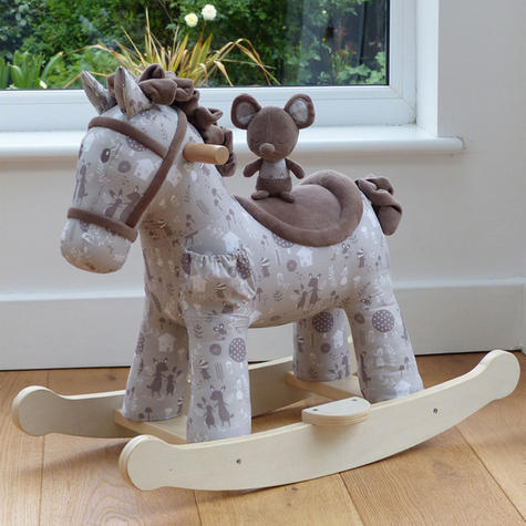 Little Bird Told Me Biscuit & Skip Rocking Horse Toy 9m+   Ride On   With Soft Fabric Thumbnail 3