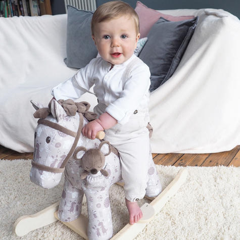 Little Bird Told Me Biscuit & Skip Rocking Horse Toy 9m+   Ride On   With Soft Fabric Thumbnail 4