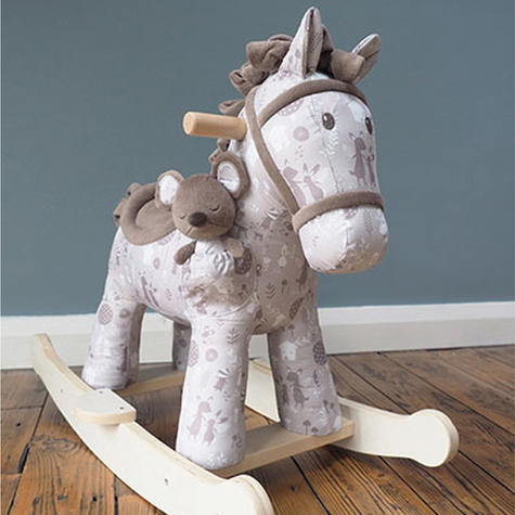 Little Bird Told Me Biscuit & Skip Rocking Horse Toy 9m+   Ride On   With Soft Fabric Thumbnail 5