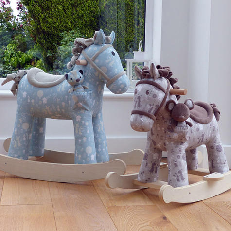 Little Bird Told Me Biscuit & Skip Rocking Horse Toy 9m+   Ride On   With Soft Fabric Thumbnail 7