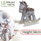 Little Bird Told Me Biscuit & Skip Rocking Horse Toy 9m+ | Ride On | With Soft Fabric