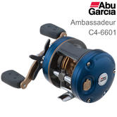 Abu Garcia Ambassadeur C4 6601 Round Fishing Multiplier Reel | Ratio 6.3:1 | 1292717