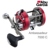 Abu Garcia Ambassadeur C 7000 Right Hand Sea Fishing Multiplier Reel | 1324530 | Red