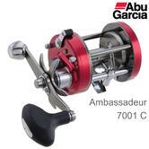 Abu Garcia Ambassadeur C 7001 Left Hand Sea Fishing Multiplier Reel | 1324533 | Red