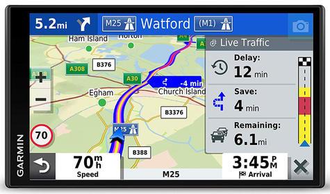 Garmin DriveSmart 65 LMT-D GPS SatNav | Full Europe Lifetime Map Updates + Digital Traffic Thumbnail 2