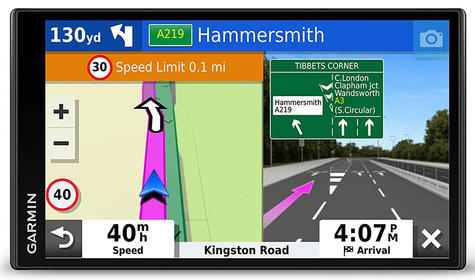 Garmin DriveSmart 65 LMT-D GPS SatNav | Full Europe Lifetime Map Updates + Digital Traffic Thumbnail 3