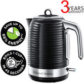 Russell Hobbs 24361 Inspire Rapid Boil Electric Kettle | Black Chrome | 3000W | 1.7 L