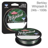 Berkley Whiplash Carrier 8 Braid Fishing Line | 100% PE Superline | 300m Spool | Green