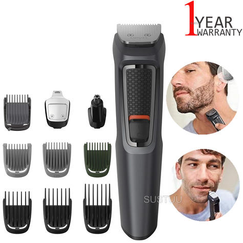 Philips MG3747 Series 3000 10 in 1 Multi Grooming Kit | Beard, Hair & Nose Trimmer Thumbnail 1