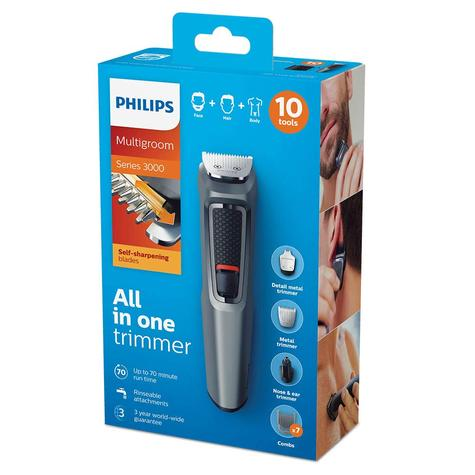 Philips MG3747 Series 3000 10 in 1 Multi Grooming Kit | Beard, Hair & Nose Trimmer Thumbnail 6