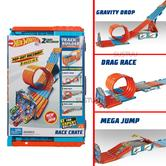 Hot Wheels Track Builder Stunt Builder | Connectable Set Loops | Kid's Car Race Kit