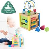 Early Learning Centre Wooden Small Activity Cube | Small Learning Centre | Bead Maze