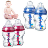 Tommee Tippee Decorated Baby Feeding Bottles 260ml 2Pk | Anti-Colic | Star Valve | NEW