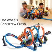 Hot Wheels Corkscrew Crash | Kid's Toy Action Car Play Set | Connectable Track Kit