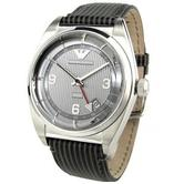 Emporio Amani Classic Men's Watch | Grey Round Dial | Velluto Leather Strap | AR1628