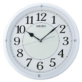 Seiko Luminous Dial Wall Clock with Arabic Numerals | Plastic | Matt White | QXA734W