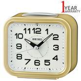 Seiko Quiet Sweep Second Hand Bell Alarm Clock | Snooze | Plastic Case | Gold | QHK050G