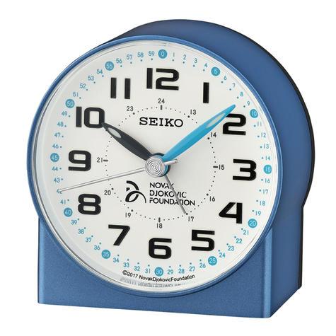 Seiko Novak Djokovic Foundation Alarm Clock | Lumibrite Hands | Metalic Blue | QHE907L Thumbnail 2