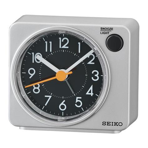 Seiko Quiet Sweep Second Hand Beep Alarm Clock | Arabic Numerals | QHE100A | Silver Thumbnail 1