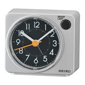 Seiko Quiet Sweep Second Hand Beep Alarm Clock | Arabic Numerals | QHE100A | Silver