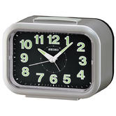 Seiko Quiet Sweep Second Hand LumiBrite Bell Alarm Clock | Snooze | Silver | QHK026S