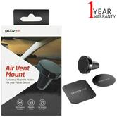 Groov-e Air Vent Mount Universal Magnetic Holder | Use For Mobile Device | GVWM4BK