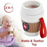 Fisher-Price Coffee Cup Rattle and Teether Toy | Chewy | 2 In 1 Kid's Accessory Toy