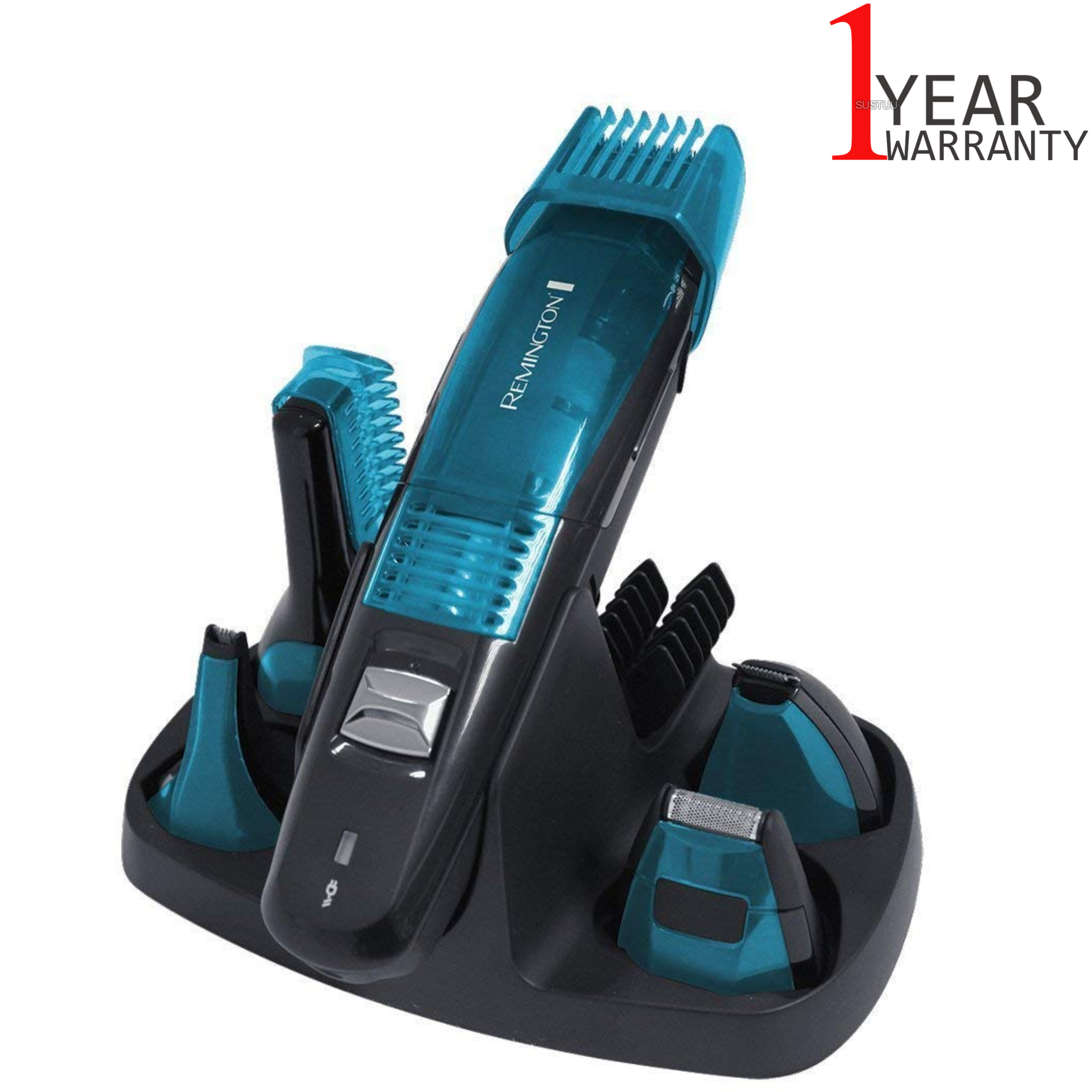 Remington PG6070 Vacuum Advanced 5-in-1 Grooming Kit | Body-Hair-Nose-Ear Trimmer