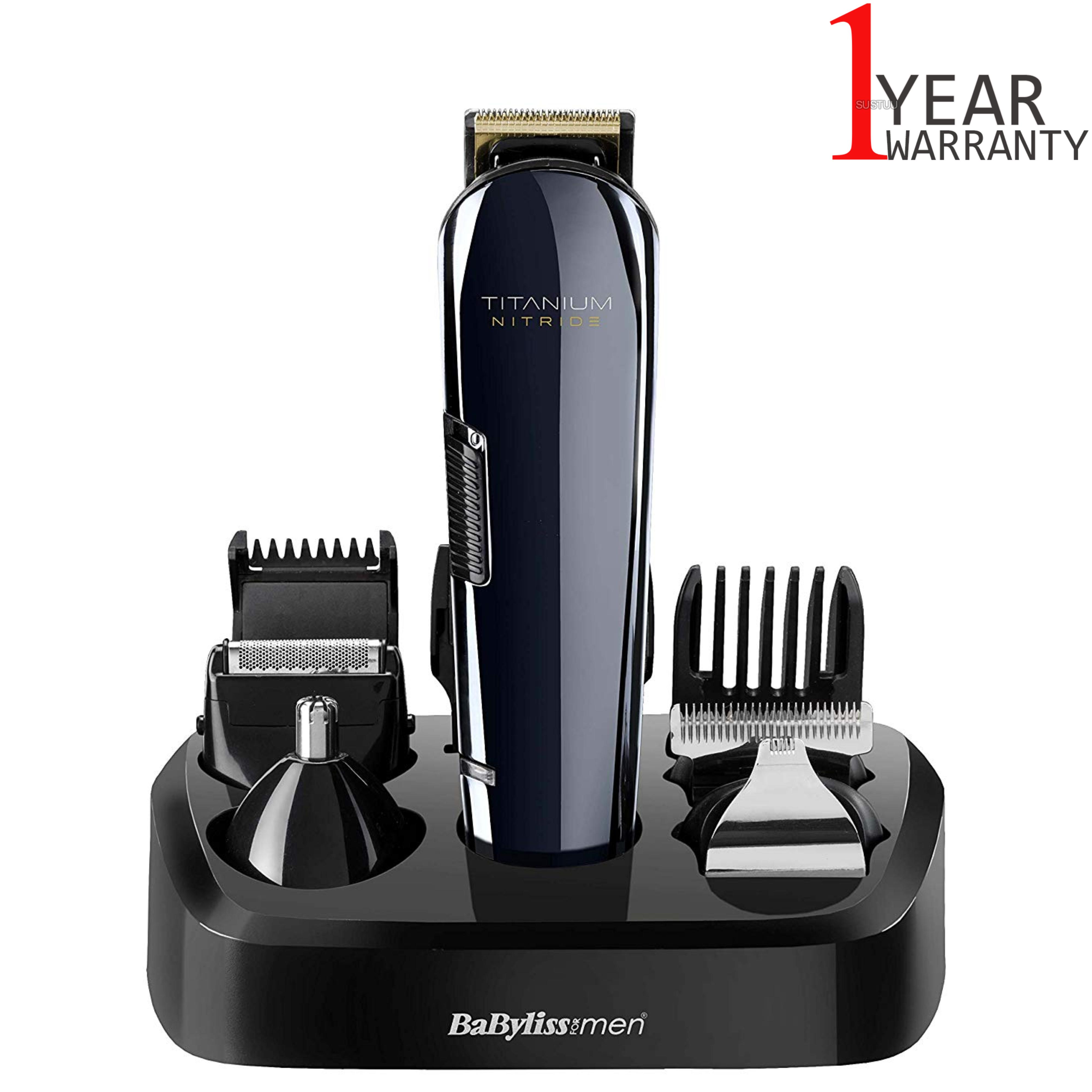 BaByliss 7427U Titanium Nitride Men's Face & Body Cordless Multi Groomer Kit | NEW
