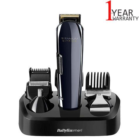 BaByliss 7427U Titanium Nitride Men's Face & Body Cordless Multi Groomer Kit | NEW Thumbnail 1