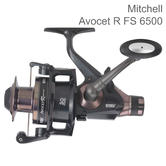 Mitchell Avocet R FS 6500 Freespool Fishing Reel | 6 pin | Multi Disc | Black | One Size