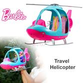 Barbie Travel Helicopter | Toy Chopper | Kid's Flying Vehicle Set | Spinning Rotor | 3y+