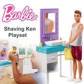 Barbie Shaving Ken Playset | Shaving Ken Doll | Bathroom/Vanity Themed Playset | 3y+