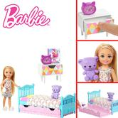 Barbie Chelsea Bedtime Doll Playset | Bedroom Working Trundle | Teddy Bear | Giftware