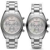 Emporio Armani Sportivo Series Couple Watch | Mother of Pearl Dial | Stainless Strap