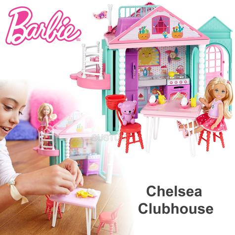 Barbie Chelsea Portable Clubhouse | Kid's Kitchen Playset | Colourful Building | 3y+ Thumbnail 1
