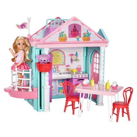 Barbie Chelsea Portable Clubhouse | Kid's Kitchen Playset | Colourful Building | 3y+ Thumbnail 3