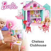 Barbie Chelsea Portable Clubhouse | Kid's Kitchen Playset | Colourful Building | 3y+
