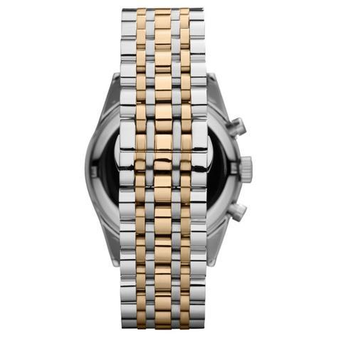 Emporio Armani Sportivo Couple Watch | Chronograph | Tachymeter Dial | Dual Tone Strap Thumbnail 3
