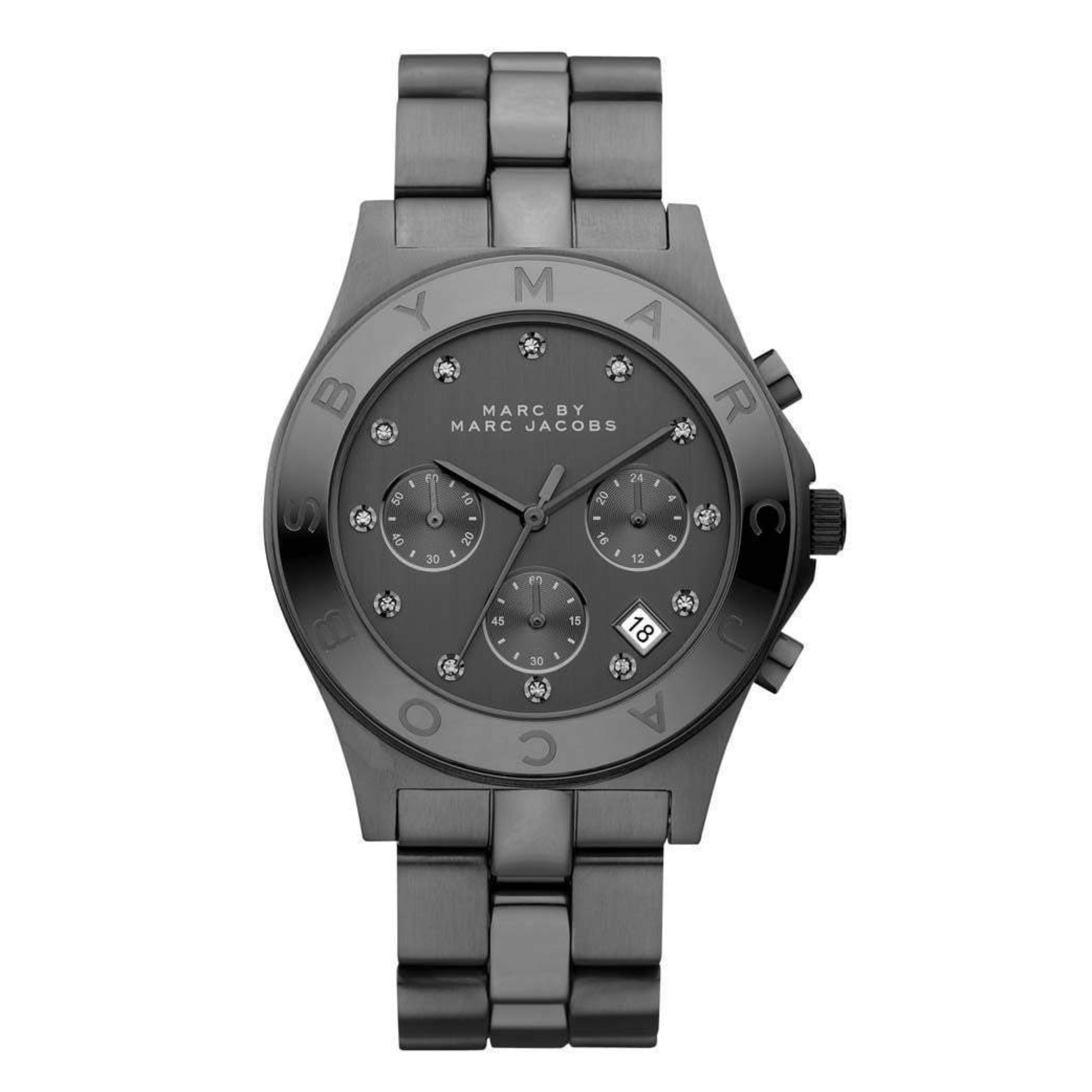 Marc Jacobs Blade Ladies Watch | Chronograph Dial | Black Stainless Strap | MBM3103