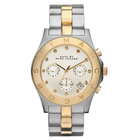 Marc Jacobs Blade Ladies Watch | Chronograph Dial Stone Marker | Stainless Strap | MBM3177 Thumbnail 1