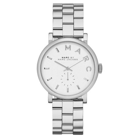 Marc Jacob Baker Ladies Watch | White Round Sub Dial | Stainless Steel Strap | MBM3242 Thumbnail 1