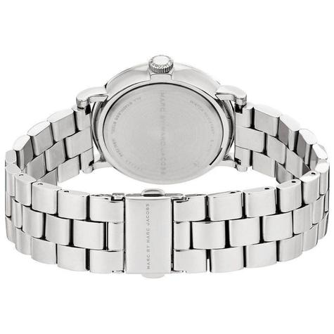 Marc Jacob Baker Ladies Watch | White Round Sub Dial | Stainless Steel Strap | MBM3242 Thumbnail 3