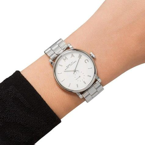 Marc Jacob Baker Ladies Watch | White Round Sub Dial | Stainless Steel Strap | MBM3242 Thumbnail 4