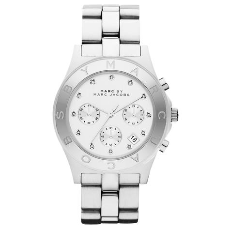 Marc Jacobs Blade Series Ladies Watch | Chronograph White Dial | Stainless | MBM3100 Thumbnail 1