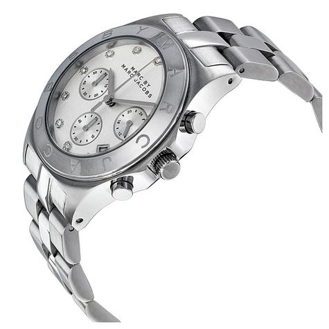 Marc Jacobs Blade Series Ladies Watch | Chronograph White Dial | Stainless | MBM3100 Thumbnail 2