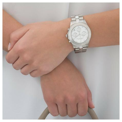 Marc Jacobs Blade Series Ladies Watch | Chronograph White Dial | Stainless | MBM3100 Thumbnail 3