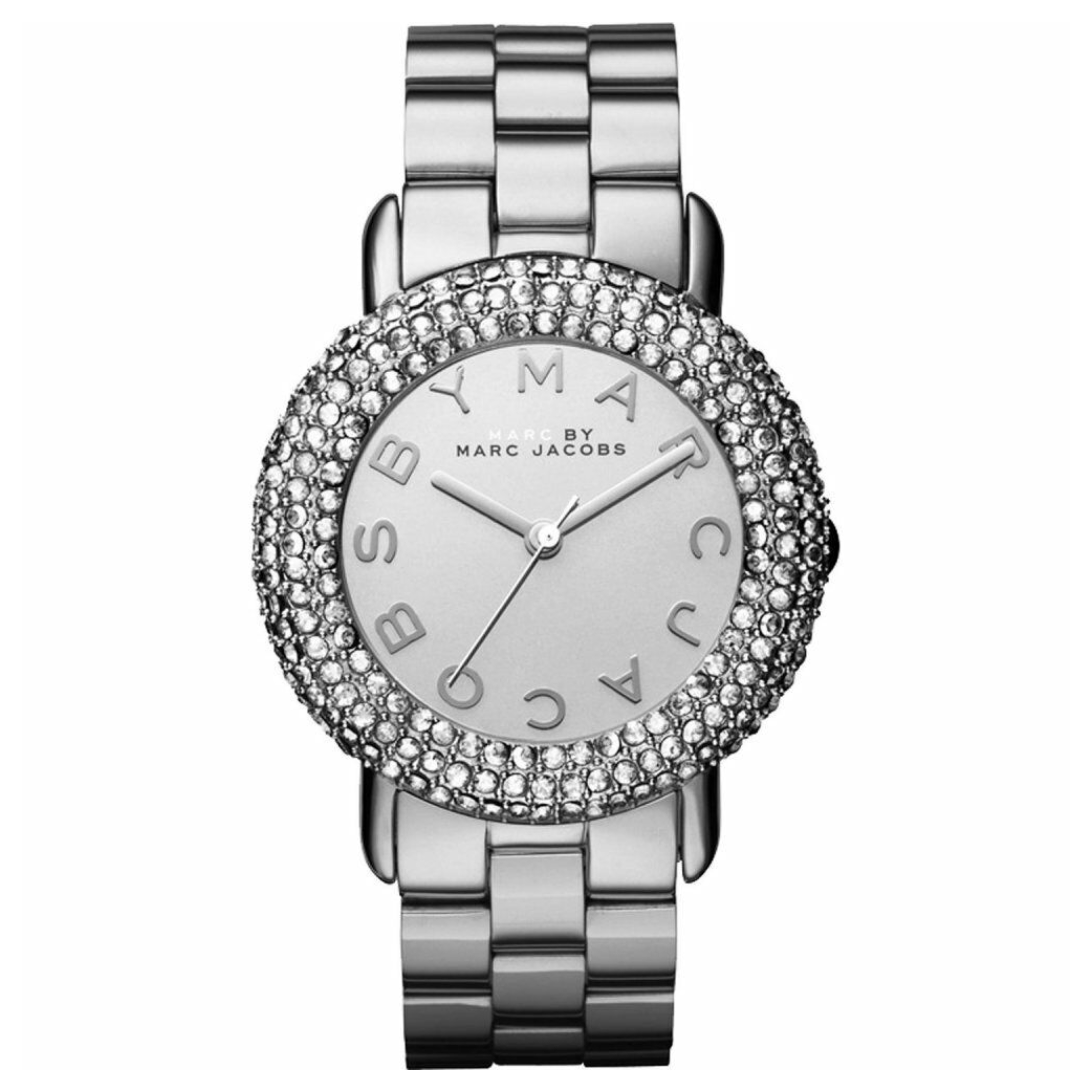 Marc Jacobs Marci Ladies Watch | Crystal Bezel Silver Dial | Stainless Strap | MBM3190